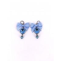 Ohrringe blau one size