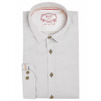 Pure Hemd Tracht weiß S