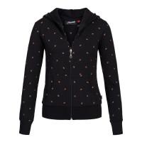 Damen Pullover, BW Elasthan bestickt schwarz S