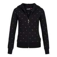 Damen Pullover, BW Elasthan bestickt schwarz L