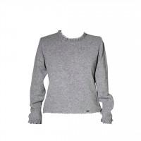 Pullover hellgrau 44