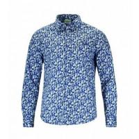 Bodo Muster dunkelblau l alpiner Lifestyle 100% Baumwolle