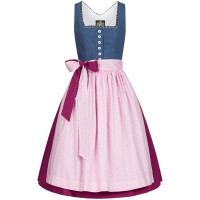 Dinrdl Thiersee blau 42 Tracht 80% Baumwolle, 20% Polyester