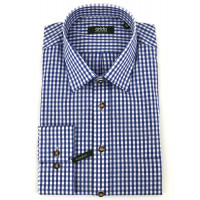 H-Hemd Kent blau 45 Tracht 100% Baumwolle