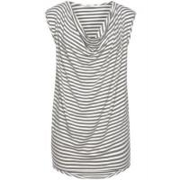 T-Shirts Anka grau/weiß M
