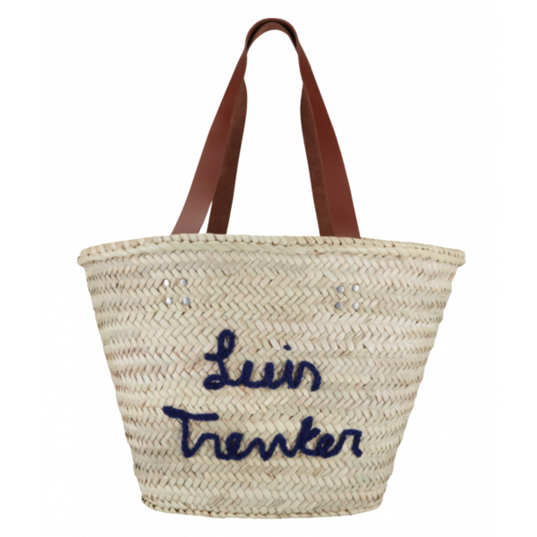 Strandtasche Dora mit gesticktem Luis Trenker Schriftzug ; hellbeige