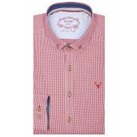 Pure Hemd/Tracht karo rot  l